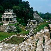 Mayan ruins at Palenque, Chiapas.