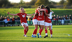 Abi Harrison of Bristol City scores goal making it 1-0- Mandatory by-line: Nizaam Jones/JMP - 27/10/2019 - FOOTBALL - Stoke Gifford Stadium - Bristol, England - Bristol City Women v Tottenham Hotspur Women - Barclays FA Women's Super League