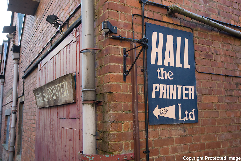 Hall the Printer, Brewer St, Oxford