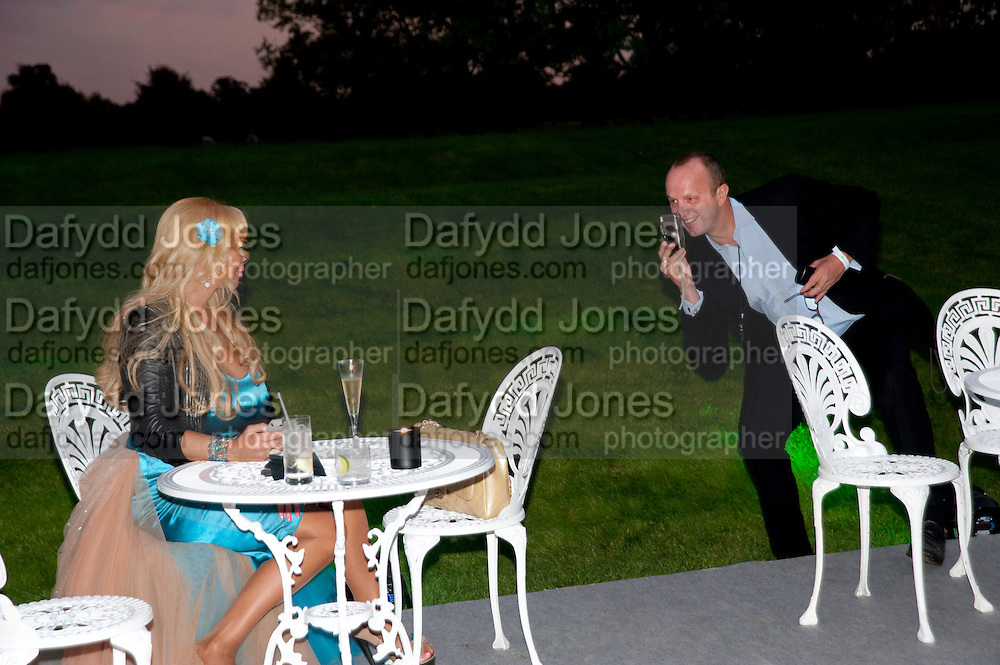 JULIE PATSILIDES; JOHNNY SHAND KYDD, Evgeny Lebedev and Graydon Carter hosted the Raisa Gorbachev charity Foundation Gala, Stud House, Hampton Court, London. 22 September 2011. <br /> <br />  , -DO NOT ARCHIVE-&copy; Copyright Photograph by Dafydd Jones. 248 Clapham Rd. London SW9 0PZ. Tel 0207 820 0771. www.dafjones.com.
