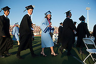Sarah Harlin graduates from Villa Park High during commencement ceremonies at Fred Kelly Stadium in Orange on Thursday.