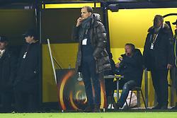 18.02.2016, Signal Iduna Stadion, Dortmund, GER, UEFA EL, Borussia Dortmund vs FC Porto, Sechzehntelfinale, Hinspiel, im Bild Thomas Tuchel (Trainer, Borussia Dortmund) kratzt sich nachdenklich am Kinn // during the UEFA Europa League Round of 32, 1st Leg match between Borussia Dortmund and FC Porto at the Signal Iduna Stadion in Dortmund, Germany on 2016/02/18. EXPA Pictures © 2016, PhotoCredit: EXPA/ Eibner-Pressefoto/ Deutzmann<br /> <br /> *****ATTENTION - OUT of GER*****