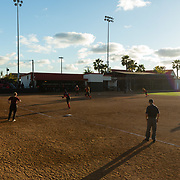 02 March 2018: San Diego State softball hosts Minnesota on day two of the San Diego Classic I at Aztec Softball Stadium.A wide angle view of  San Diego State starting pitcher Marissa Moreno (33) in the top of the third inning in a 1-1 game against Minnesota. The Aztecs beat the #21/20 Gophers 6-2.<br /> More game action at sdsuaztecphotos.com