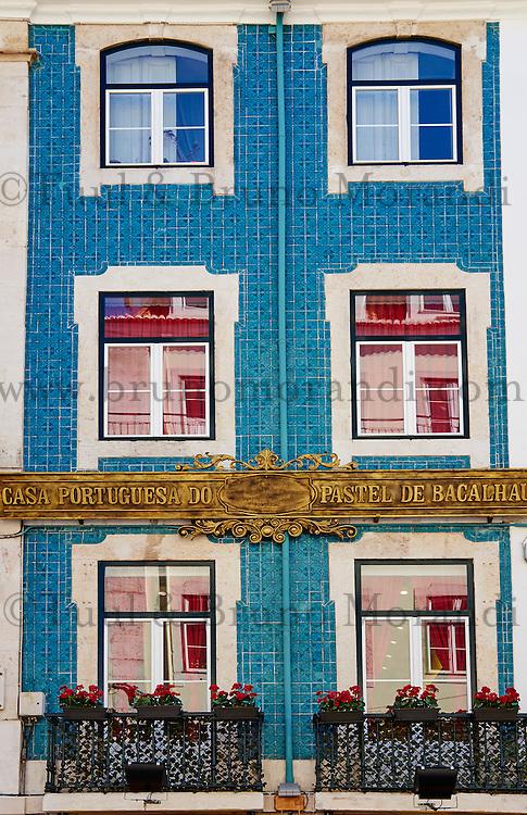 Portugal, Lisbonne, quartier de Baixa pombalin, Casa portuguesa do Pastel de Bacalhau  // Portugal, Lisbon, Baixa pombalin, Casa portuguesa do Pastel de Bacalhau, the house of Bacalhau