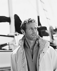 good looking man with scruffy face at marina in California