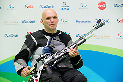 Franc Pinter - Anco of Slovenia during the Rio 2016 Summer Paralympics Games on September 8, 2016 in the Olympic Shooting Centre, Rio de Janeiro, Brazil. Photo by Vid Ponikvar / Sportida