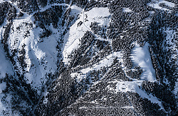 THEMENBILD - verschneite Nadelbaum Landschaft, aufgenommen am 5. Feber 2018 in Zell am See - Kaprun, Österreich // coniferous forest in winter covered with snow, Zell am See Kaprun, Austria on 2018/02/05. EXPA Pictures © 2018, PhotoCredit: EXPA/ JFK