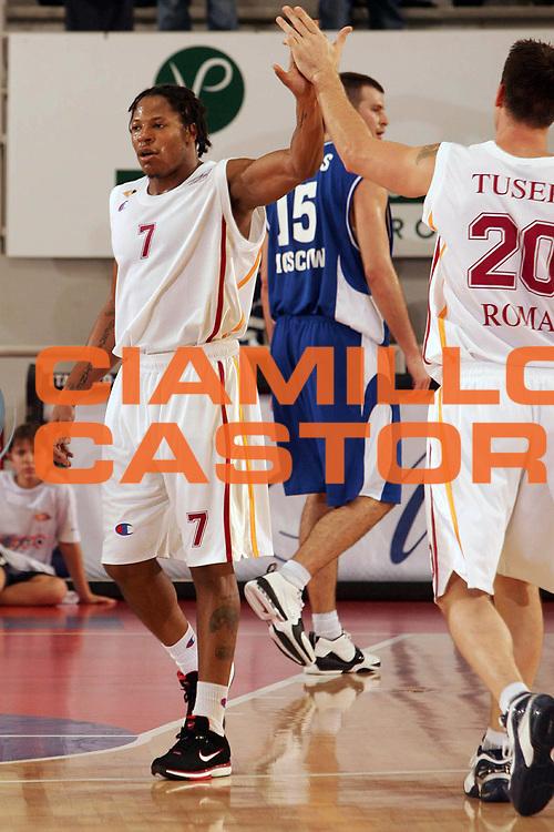 DESCRIZIONE : Roma Uleb Cup 2005-06 Lottomatica Virtus Roma Dinamo Mosca<br /> GIOCATORE : Hawkins Tusek<br /> SQUADRA : Lottomatica Virtus Roma<br /> EVENTO : Uleb Cup 2005-2006<br /> GARA : Lottomatica Virtus Roma Dinamo Mosca Moscow<br /> DATA : 15/11/2005<br /> CATEGORIA : <br /> SPORT : Pallacanestro<br /> AUTORE : Agenzia Ciamillo&amp;Castoria