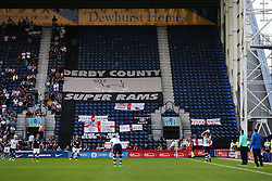 A general view of Derby County flags in the Tom Finney Stand during play - Mandatory by-line: Matt McNulty/JMP - 16/08/2016 - FOOTBALL - Deepdale - Preston, England - Preston North End v Derby County - Sky Bet Championship