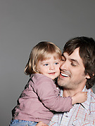 Mid adult father with baby daughter (1-2 years)
