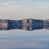 Mirror reflections on the north side of the lake.