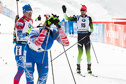 Jakov Fak (SLO) finishing the Mass Start Men 15 km at day 4 of IBU Biathlon World Cup 2019/20 Pokljuka, on January 23, 2020 in Rudno polje, Pokljuka, Pokljuka, Slovenia. Photo by Peter Podobnik / Sportida