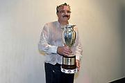 DESCRIZIONE : Final Eight Coppa Italia 2015 Finale Olimpia EA7 Emporio Armani Milano - Dinamo Banco di Sardegna Sassari<br /> GIOCATORE : Romeo Sacchetti<br /> CATEGORIA : esultanza post game post game<br /> SQUADRA : Banco di Sardegna Sassari<br /> EVENTO : Final Eight Coppa Italia 2015<br /> GARA : Olimpia EA7 Emporio Armani Milano - Dinamo Banco di Sardegna Sassari<br /> DATA : 22/02/2015<br /> SPORT : Pallacanestro <br /> AUTORE : Agenzia Ciamillo-Castoria/Max.Ceretti