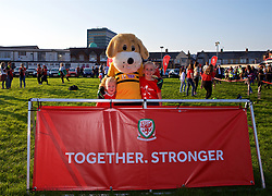 """NEWPORT, WALES - Thursday, August 30, 2018: The FAW supporters' """"Fan Zone"""" before the FIFA Women's World Cup 2019 Qualifying Round Group 1 match between Wales and England at Rodney Parade. (Pic by Laura Malkin/Propaganda)"""