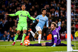Leroy Sane of Manchester City shoots at goal - Mandatory by-line: Robbie Stephenson/JMP - 12/03/2019 - FOOTBALL - Etihad Stadium - Manchester, England - Manchester City v Schalke - UEFA Champions League, Round of 16, 2nd leg