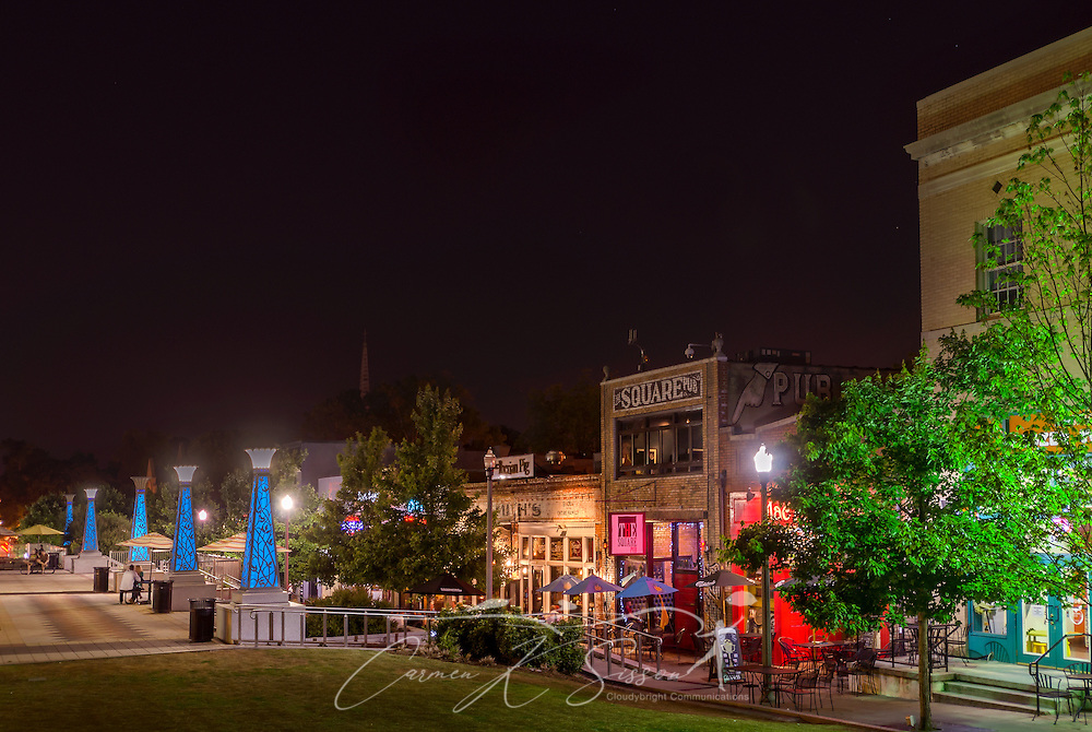 Decatur Square is pictured at night, June 4, 2014, in Decatur, Georgia. Decatur had a population of 19,335 at the 2010 Census and is a suburb of Atlanta. (Photo by Carmen K. Sisson/Cloudybright)