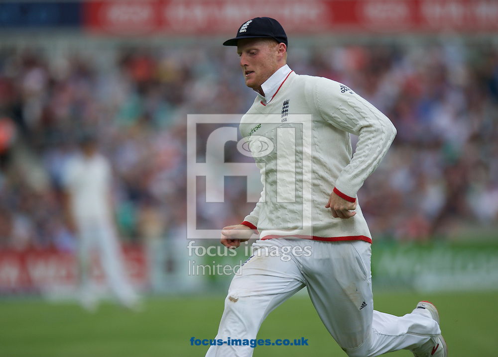Ben Stokes of England during the 5th Investec Ashes Test Match match at the Kia Oval, London<br /> Picture by Alan Stanford/Focus Images Ltd +44 7915 056117<br /> 20/08/2015