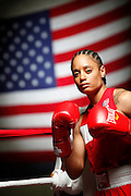 6/24/11 2:33:35 PM -- Colorado Springs, CO. -- A portrait of U.S. Olympic lightweight boxer Queen Underwood, 27, of Seattle, Wash. who will be competing for her fifth title. She began boxing in 2003 and was the 2009 Continental Champion and the 2010 USA Boxing National Champion. She is considered a likely favorite to medal at the 2012 Summer Olympics in London as women's boxing makes its debut as an Olympic sport. -- ...Photo by Marc Piscotty, Freelance.