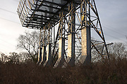 National Grid electricity instalation on industrial wasteland at Barton Down, Canterbury, Kent