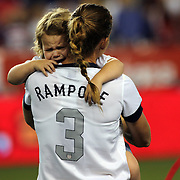 Christie Rampone, USA, with daughter Reece Elizabeth after the U.S. Women Vs Korea Republic friendly soccer match at Red Bull Arena, Harrison, New Jersey. USA. 20th June 2013. Photo Tim Clayton