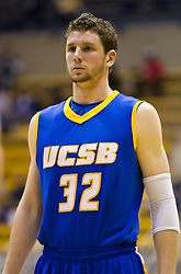 December 28, 2009; Berkeley, CA, USA;  UC Santa Barbara Gauchos forward Jon Pastorek (32) during the second half against the Furman Paladins at the Haas Pavilion.  UC Santa Barbara defeated Furman 72-60.