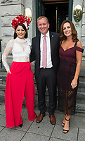 03/08/2017   Repro free  Mandy Maher, Cian O'Broin, GM Hotel Meyrick, and Lorraine Keane at Hotel Meyrick for Galway's 'Most Stylish Lady' Competition, at a glamorous evening reception in the Parlour Lounge of Hotel Meyrick on Ladies Day of the Galway Races. Head judge this year was the stunning Lorraine Keane,  assisted by fellow fashion experts Mandy Maher,owner of Catwalk Modelling Agency  .  Photo: Andrew Downes, xposure