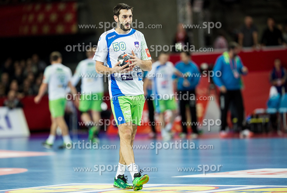 Dragan Gajic of Slovenia during handball match between National teams of Germany and Slovenia on Day 6 in Preliminary Round of Men's EHF EURO 2016, on January 20, 2016 in Centennial Hall, Wroclaw, Poland. Photo by Vid Ponikvar / Sportida
