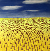 Michael Harridge. The Pinnacles<br /> 39&quot;  x  39&quot;<br /> Acrylic on canvas.<br /> Sold