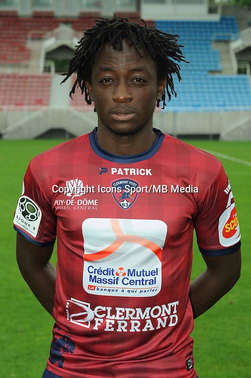 Junior MESSI ENGUENE - 30.07.2014 - Portraits officiels Clermont - Ligue 2<br /> Photo : Jean Paul Thomas / Icon Sport