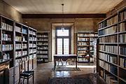 ITALY, Franciacorta area, Roveto, Monte Orfano, Convento dell'Annunciata. the library