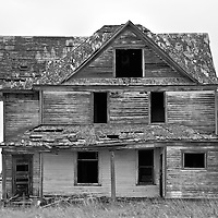 Derelict house in rural location in Pierce County USA