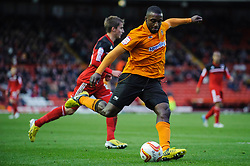 Wolves Forward Sylvan Ebanks-Blake (ENG) crosses into the box during the first half of the match - Photo mandatory by-line: Rogan Thomson/JMP - Tel: Mobile: 07966 386802 01/12/2012 - SPORT - FOOTBALL - Ashton Gate - Bristol. Bristol City v Wolverhampton Wanderers - npower Championship.