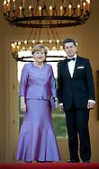 Berlin, 24-06-2015 <br /> <br /> SateVisit of Queen Elizabeth to Germany<br /> <br /> Schloss Bellevue State Dinner<br /> <br /> <br /> <br /> <br /> Royalportraits Europe/Bernard Ruebsamen