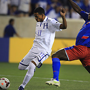 Rony Martínez, Honduras, scores his sides first goal during the Haiti V Honduras CONCACAF Gold Cup group B football match at Red Bull Arena, Harrison, New Jersey. USA. 8th July 2013. Photo Tim Clayton