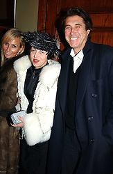 Singer BRYAN FERRY and ISABELLA BLOW at a party and fashion show by Agent Provocateur at the Cafe de Paris, Coventry Street, London W1 on 14th February 2005.<br /><br />NON EXCLUSIVE - WORLD RIGHTS