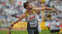 Athletics - 2017 IAAF London World Athletics Championships - Day Nine, Morning Session<br /> <br /> Decathlon Men - Discus Throw<br /> <br /> Rico Freimuth (Germany) throws 51.17m  at the London Stadium<br /> <br /> COLORSPORT/DANIEL BEARHAM
