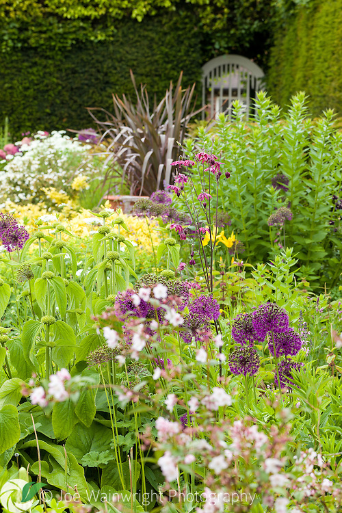 A tumble of herbaceous planting at Abbeywood Gardens, Cheshire - photographed in June.