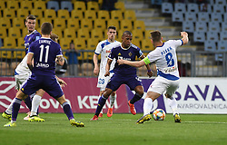 Felipe Silva Correa Dos Santos of Maribor and Janez Pišek of Celje during football match between NK Maribor and NK Celje in Round #24 of Prva liga Telekom Slovenije 2018/19, on March 30, 2019 in stadium Ljudski vrt, Maribor, Slovenia. Photo by Milos Vujinovic / Sportida