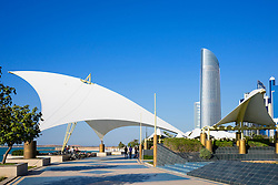 Corniche in Abu Dhabi United Arab emirates