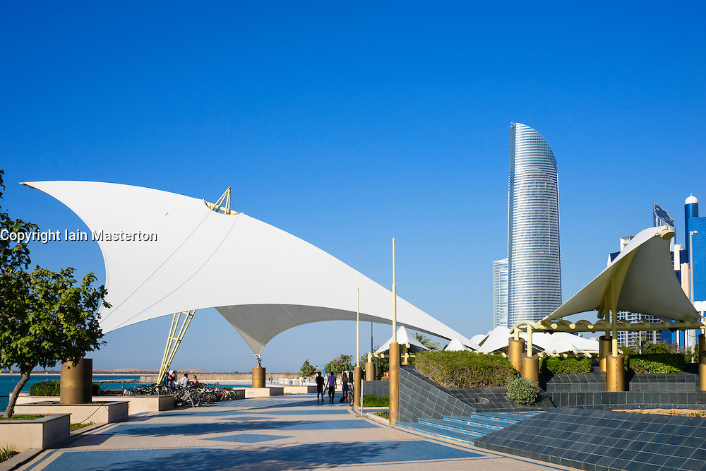 Corniche in Abu Dhabi United Arab emirates