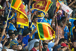 © Licensed to London News Pictures. 04/10/2012. Sri Lankan cricket fans during the World T20 Cricket Mens Semi Final match between Sri Lanka Vs Pakistan at the R Premadasa International Cricket Stadium, Colombo. Photo credit : Asanka Brendon Ratnayake/LNP