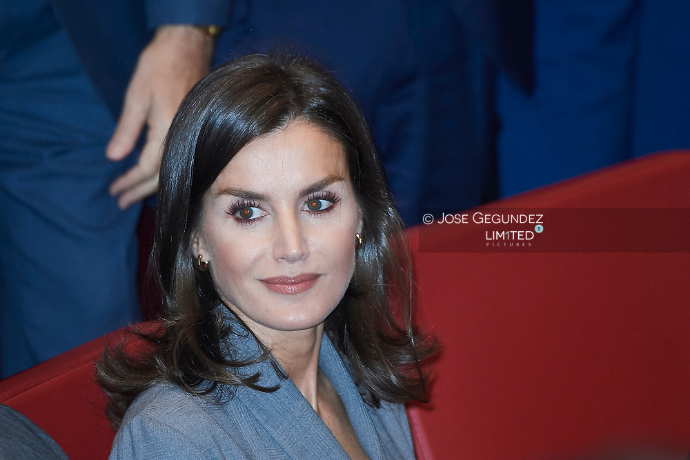 Queen Letizia of Spain attends the delivery the Award of the Observatory against Domestic and Gender Violence 2019 at Consejo General Poder Judicial on November 26, 2019 in Madrid, Spain