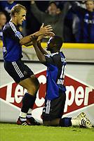 BRUGGE, 27/09/2003<br /> CLUB BRUGGE vs SK BEVEREN / FC BRUGGE vs SK BEVEREN /<br /> ANDRESMENDOZA & BENGT SÆTERNES<br /> PICTURE BY NICO VEREECKEN<br /> PHOTO: Digitalsport