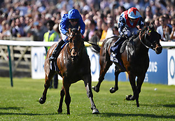 Tribal Quest ridden by William Buick (left) wins the Hot Streak Handicap during day one of the QIPCO Guineas Festival at Newmarket Racecourse.