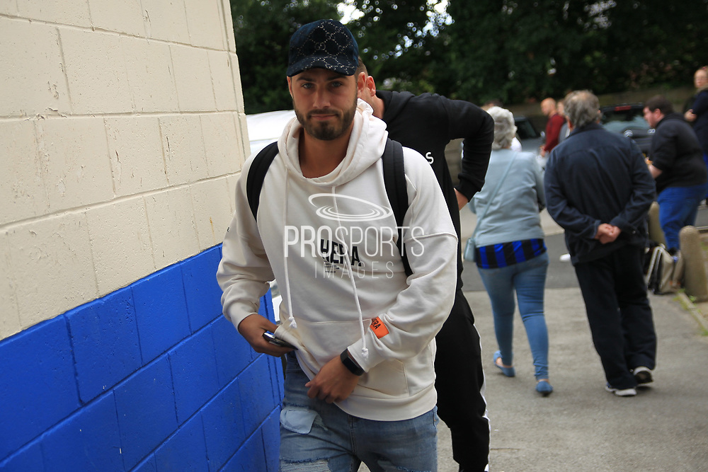 Joshua Ritchie Love Island arrives during the Joe Thompson's Allstars v Joe Thompson's Celebrity 11 in Rochdale at the Crown Oil Arena, Rochdale, England on 21 July 2019.
