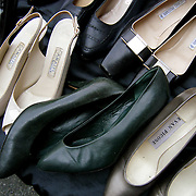 Flea Market women's shoes on table for sale