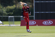 Lancashire Lancashire Thunders Sophie Ecclestone during the Vitality T20 Blast North Group match between Lancashire Thunder and Yorkshire Vikings at Liverpool Cricket Club, Liverpool, United Kingdom on 13 August 2019.