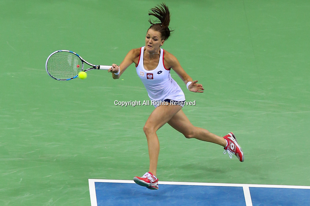 07.02.2015. Krakow, Poland, Fed Cip international tennis tournement, Poland versus Russia.  Agnieszka Radwanska (POL)