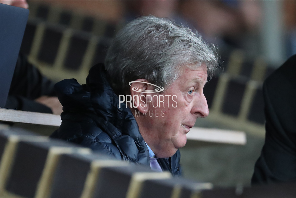 Crystal Palace manager Roy Hodgson looking at pitch during the Pre-Season Friendly match between AFC Wimbledon and Crystal Palace at the Cherry Red Records Stadium, Kingston, England on 30 July 2019.
