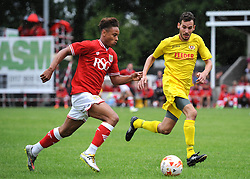 Bobby Reid of Bristol City in action against Brislington FC - Photo mandatory by-line: Dougie Allward/JMP - Mobile: 07966 386802 - 05/07/2015 - SPORT - Football - Bristol - Brislington Stadium - Pre-Season Friendly